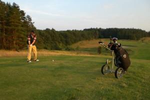 Abschlagen im Golfcentrum Schloss Karnitz