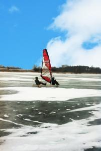 Segeln auf Rügen - auf dem Eis