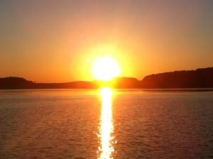 Sonnenuntergang auf Mönchgut Rügen