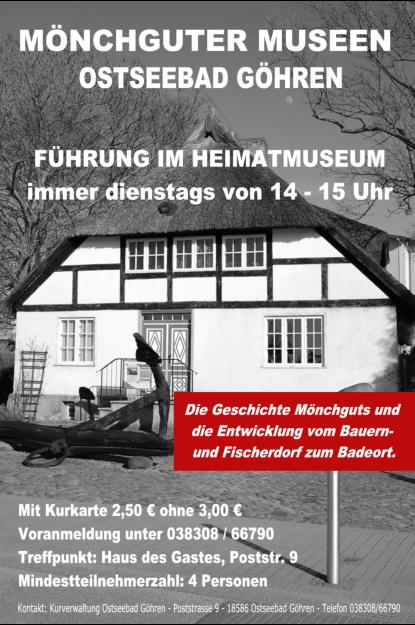 Plakat Mönchguter Museen Göhren (Quelle: http://www.moenchguter-museen-ruegen.de/)