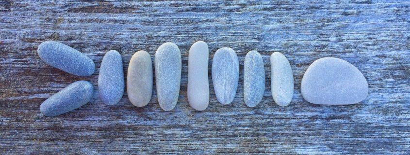 Fisch aus Stein geformt