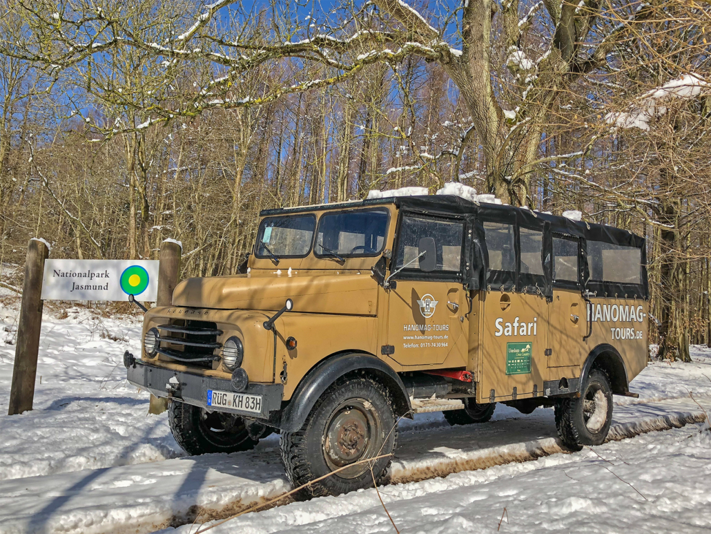 Hanomag-Tours im Winter unterwegs
