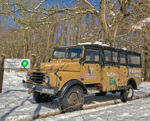 Hanomag-Tours im Winter unterwegs