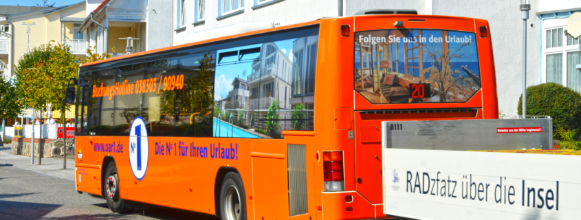 """Fällt garantiert auf: """"Unser"""" OAR-Bus."""