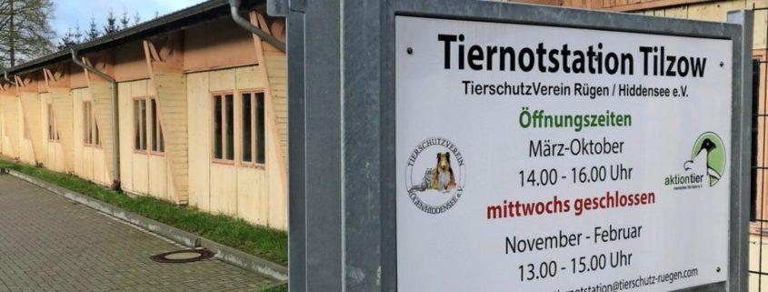Eingang zur Tiernotstation Tilzow des Tierschutzvereins Rügen-Hiddensee