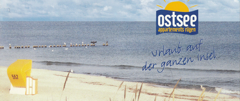 Titelfoto des ersten Flyers von Ostseeappartements Rügen aus dem Jahre 2002   (C) OAR