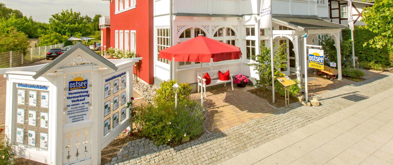 """Der Firmensitz von OAR in der Villa """"To Hus"""" im Ostseebad Sellin."""
